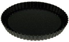 Zwarte Riess Taartbodem rond, emaille, 30 cm