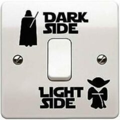 Zwarte Leukste Koop Star Wars muursticker Dark Side/Light Side