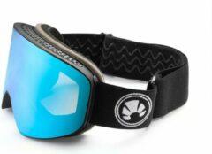 Blauwe Bakedsnow ski -en snowboardbril - Abyss blue