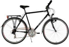 Herren Trekkingrad, 28 Zoll, schwarz, Multipositionslenker, »Vegas«, 21-Gang, KS Cycling