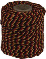 Rode Katoentouw, zwart-rood-geel, klos van 50 g, ongeveer 35 m
