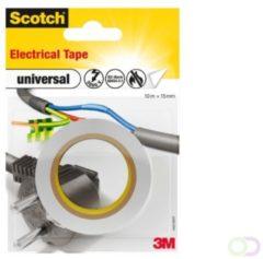 3M universal 4401WHT Isolatietape Scotch Wit (l x b) 10 m x 15 mm 1 rol/rollen