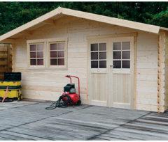 Solid tuinhuis 'Vernier' hout 26,46 m²