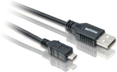 Zwarte Philips SWU2162 - USB-naar-micro USB-kabel