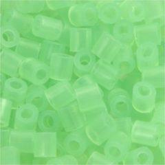 Creotime Strijkkralen, afm 5x5 mm, gatgrootte 2,5 mm, neon groen (25), medium, 6000stuks