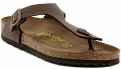 Bruine Birkenstock - Slippers - Unisex - GIZEH BIRKO-FLOR-NABUCK - saddlebrown