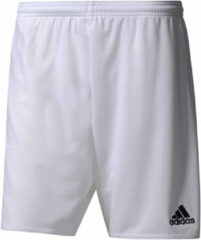 Witte Adidas Parma 16 Shorts Heren Sportbroekje - White/Black - Maat S