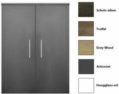 Antraciet-grijze Kolomkast Sanicare Q4/Q15 2-Deurs Soft-Closing 90x67x32 cm Antraciet