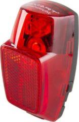 ''merkloos'' Smart Achterlicht Dynamo Met Condensator Led Rood/zwart