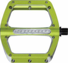 Spank - Spoon Flat Pedal - Platformpedalen maat S groen