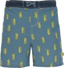Blauwe Lässig Splash & Fun Sun Board Shorts / Zwemshorts - Cactus Family 18 mnd