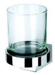 Geesa glashouder enkel NexX, messing, chroom, (hxbxd) 109x82x102mm