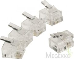 Transparante Valueline Telecom Connector RJ11 Male PVC Transparent