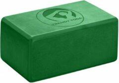 Trendy Sport Yoga blok - Yogablok - Yoga Block - 23 cm lang - 15 cm breed - 10 cm dik - Groen