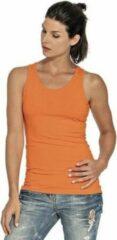 Gildan Oranje tanktop/singlet voor dames - Holland feest kleding - Supporters/fan artikelen - dameskleding hemdje/top M (38)
