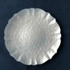 Aulica Bord Baroque - wit parelmoer - 27 cm (set van 2)