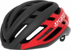 Giro Sporthelm - Unisex - Zwart/rood/wit 52,0-55,5 hoofdomtrek