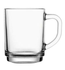 Transparante Mammoet Koffie-/ Theeglas 25cl Stapelo Budgetline ( Set van 6 )