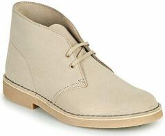 Zandkleurige Clarks - Herenschoenen - Desert Boot 2 - G - sand suede - maat 6