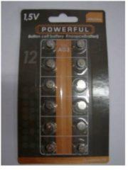 Merkloos / Sans marque Knoopcel 1.5V AG3 / L736 Powerfull Alkeline - 1 strip met elk 12 knoopcellen
