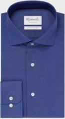 Blauwe Michaelis Shirtdeal - Uni Royal Blue Oxford katoenen overhemd-boordmaat: 43