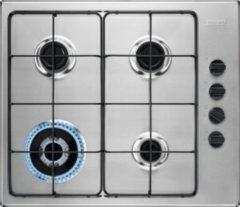 Roestvrijstalen Zanussi ZGH62424XA gaskookplaat met krachtige wokbrander