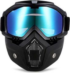 Merkloos / Sans marque Motor-Fiets-Scooter-Ski bril & Masker I Anti-UV lens I Blauw