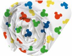 Witte Disney Mickey Mouse Hoeslaken Happy - Eenpersoons - 90 x 190/200 cm - Katoen