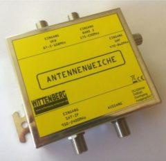 Wittenberg Antennenweiche 4 in 1 für UKW, DAB, UHF und Sat-ZF