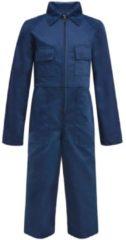 VidaXL Kinderoverall met mouwen maat 158/164 blauw