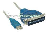 InLine USB zu 36pol Centronic - Drucker-Adapterkabel - 1,8m 33398