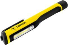 Topex LED Zaklamp COB LED 3w-150Lummen COB LED Magnetisch Soft Rubber Afgewerkt
