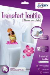 Transferfolie Avery t-shirt A4 transparant doos a 8 vel