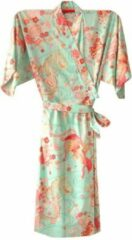 Roze TA-HWA Traditionele Japanse Kimono Yukata Celadon Groen met Draak en Phoenix Dames Nachtmode kimono One Size