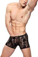 Bandi Das Sexy heren boxer / boxershort van kant met stretch Zwart - Kanten ondergoed maat L/XL