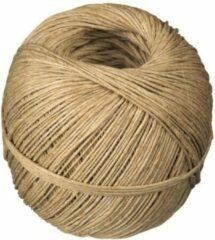 Bruine Merkloos / Sans marque Naturel touw 40 meter op rol - 2 mm - Hennep 200 grams - Klus/tuin/hobby touw/draad