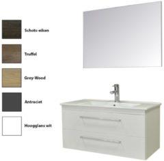 Badkamermeubelset Sanicare Q6 Twee Laden Chromen Greep 100 cm (alle kleuren, spiegel optioneel)