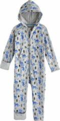 Coolibar - UV-werende Romper met capuchon voor baby's - LumaLeo Bodysuit - Grijs luipaard - maat 86cm