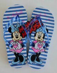 Disney Blauw gestreepte slippers van Minnie Mouse maat 32/33