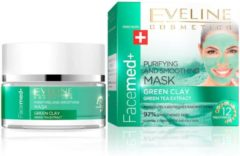 Eveline Cosmetics Facemed Purifying And Smoothing Mask groen Clay 50ml.