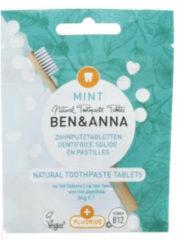 Ben&Anna Tandenpoets Tabletten Naturel Met Fluoride 100 tabletten