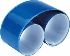 Ki-Mood KI0334 KiMood Reflecterende snap/slap warp armband 32 x 3cm – Royal Blauw