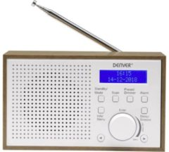 Denver DAB-46 / Retro FM radio / DAB + / LCD Display / Alarmfunctie / Wit