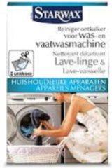 Witte Starwax reiniger ontkalker voor was- en vaatwasmachine 'Huishoudelijke Apparaten' 2 x 75 g