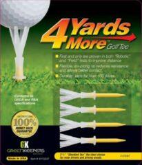 GreenKeepers 4 Yards More Golf Tee - Standaard - 2 3/4 inch - Geel