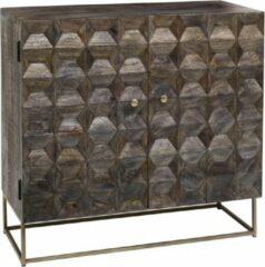 Bruine Vtw Living Luxe handgemaakt dressoir van Mangohout - Mangohouten kast - Dressoir - Kast - Industrieel - Landelijk - Cabinet - Sfeer - Luxe - Premium - 155 cm breed