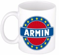 Shoppartners Namen mok / beker - Armin - 300 ml keramiek - cadeaubekers