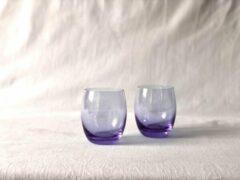 Lichtpaarse Skloglass Kristallen Druppel waterglas/ Licht paars