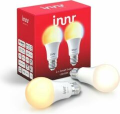 Witte Innr slimme lampen E27 ambiance - werkt met Philips Hue*- Zigbee smart LED - 2 pack