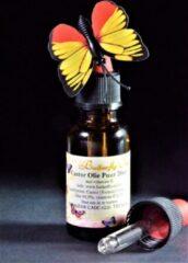 Butterfly Oil Castor Olie, Wonderolie 20ml Pipetfles Puur - Plantaardige Castorolie, Ricinusolie voor Huid en Haren